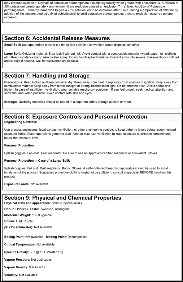MSDS Page 3